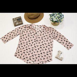 Print Pink Blouse